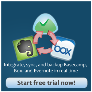 Blog Box Basecamp Evernote