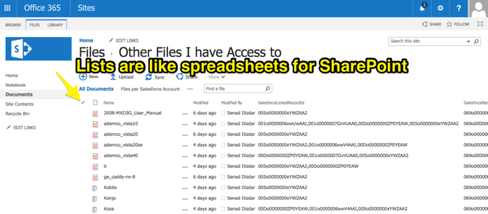 sharepoint lists in google drive