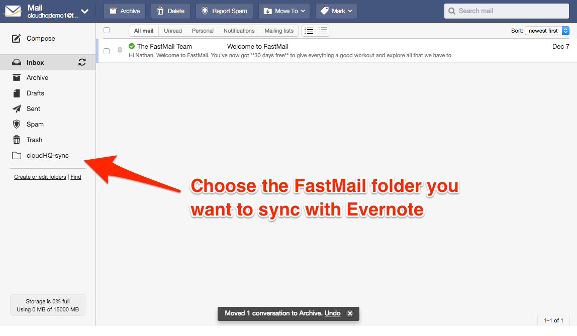 Fastmail-Evernote-Folder