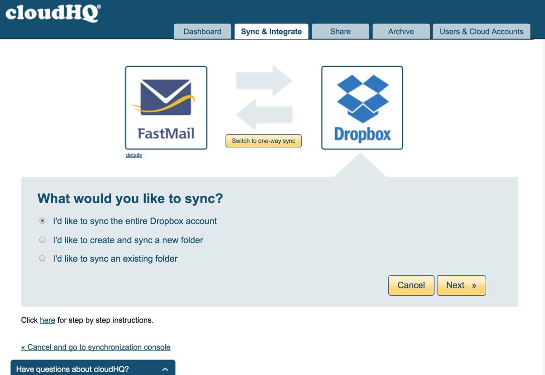 FastMail-Dropbox-Pair
