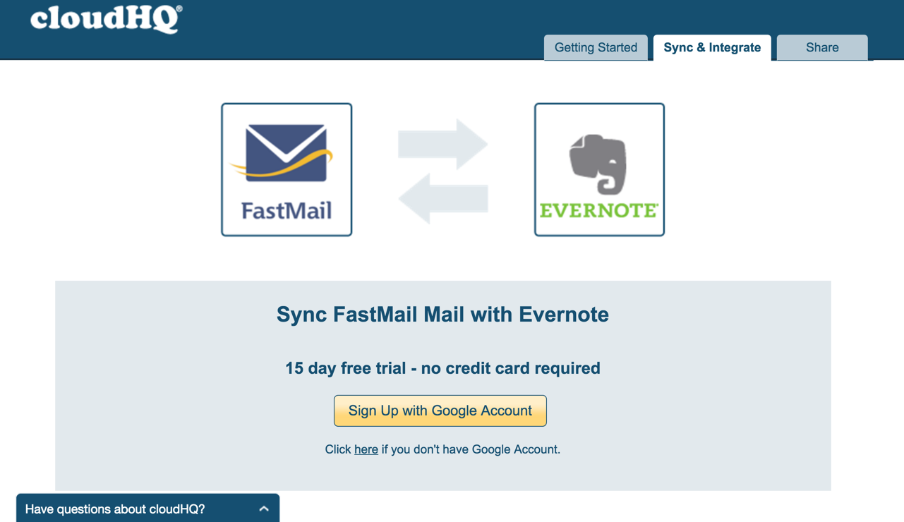 Fastmail-Evernote-Pair