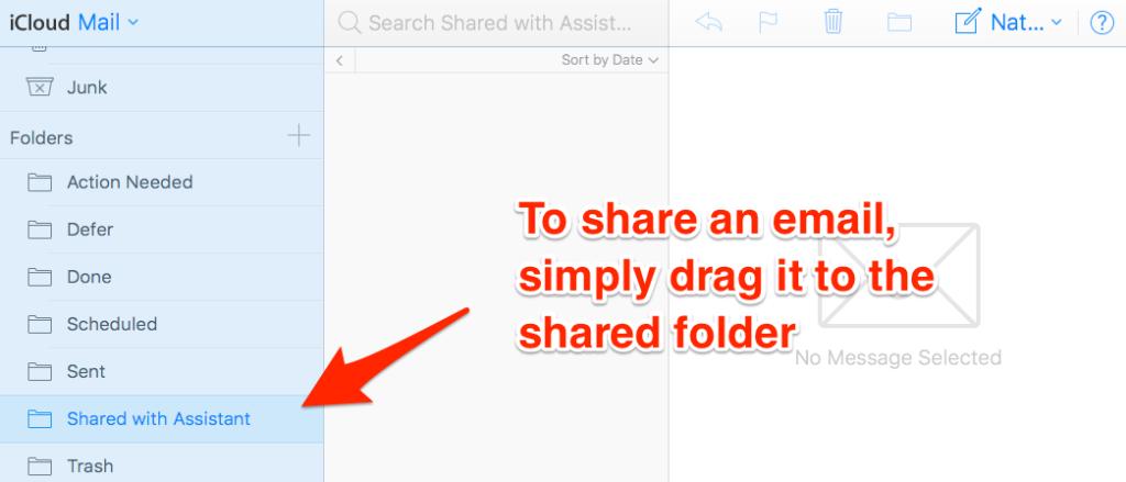 iCloud-email-folder