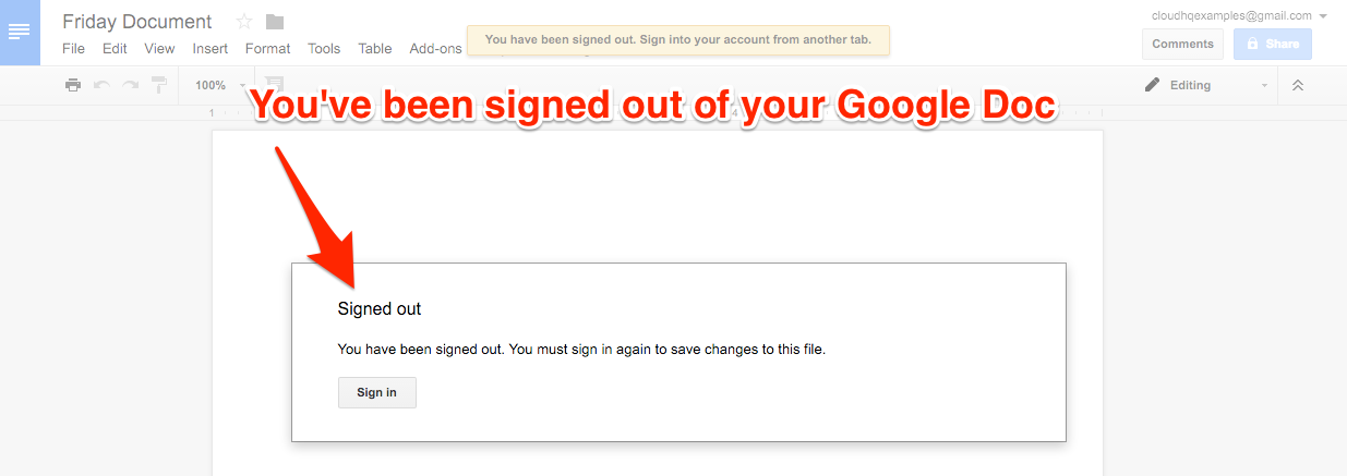 cloudHQ Multiple GoogleAccounts Signed Out Doc