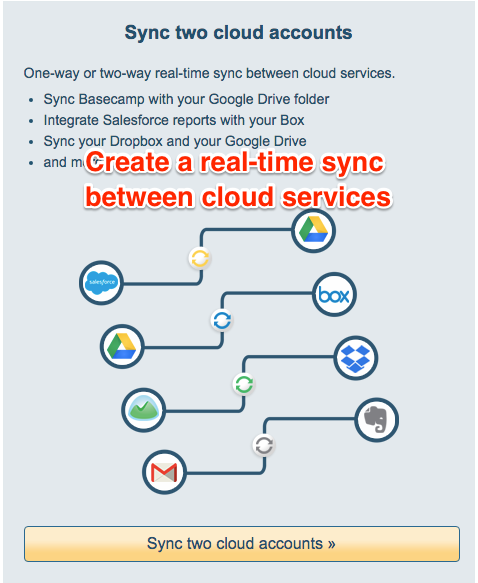 Create a real-time sync between cloud services