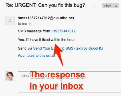 Gmail response