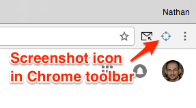 Gmail screenshot in toolbar