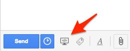 Screen Record icon in Gmail