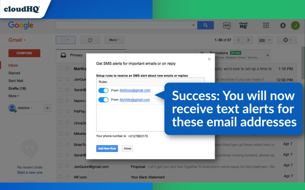 FREE: Get Gmail SMS Text Alerts And Close More Business | cloudHQ Blog