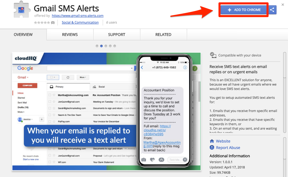 FREE: Get Gmail SMS Text Alerts And Close More Business