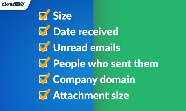 sort gmail inbox by size