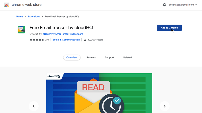 Free Email Tracker Chrome Webstore