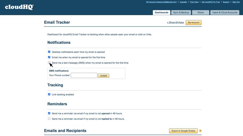 Free Email Tracker Dashboard