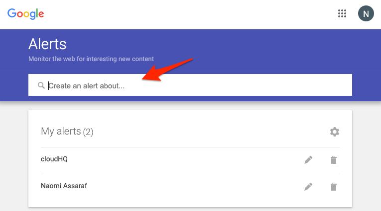 Google Alerts Keyword