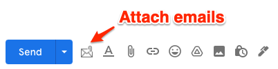 Attach emails