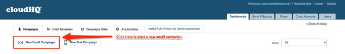 How to launch a new email campaign marketing software with mailking.io from cloudhq